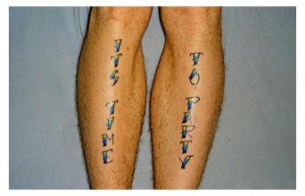 I'd like to live a life of no regrets, but I don't even know this guy and I regret that he got this tattoo.